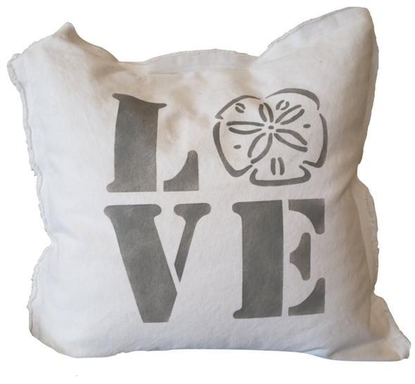 Pillow • Love Pillow White with Grey Letters
