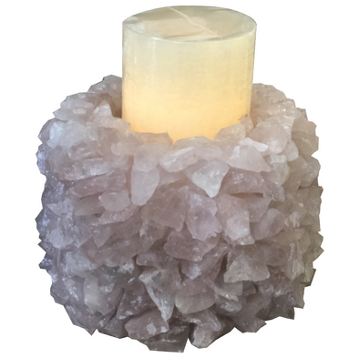 Candle Holder • Quartz Crystal Extra Large