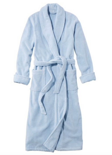 Terry Shawl Collar Robe • Blue