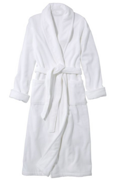 Terry Shawl Collar Robe • White