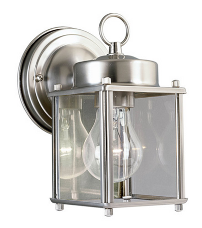 Outdoor Wall Lighting • Flat Glass Lantern