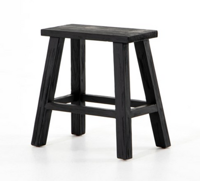 Stool • Hattie Rectangular Accent Stool • Black