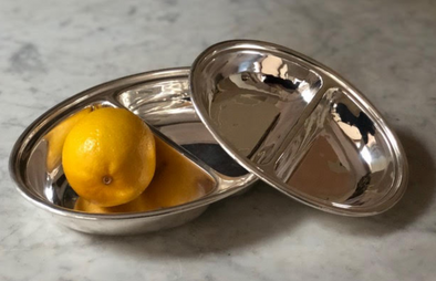 Hotel Silver • Oval Divided Serving Dish