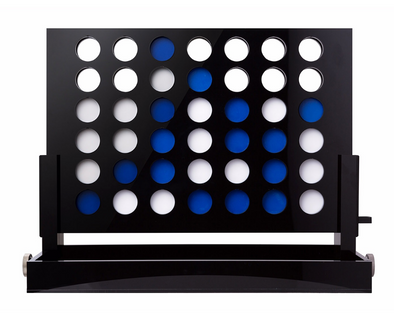 Acrylic Connect Four (Black and Blue)