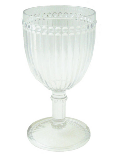 Milano Melamine Wine Glass 11oz Clear