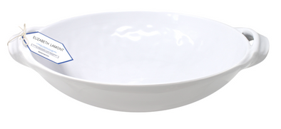 Bistro Bianco Two Handle Oval Platter 13""
