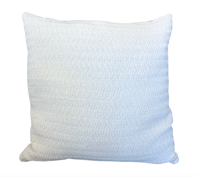Ivory Front with Linen Back Pillow
