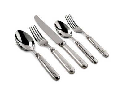 Inglese 5pc Place Setting Pewter