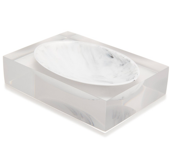 Ducale Bath Soap Dish White/Black