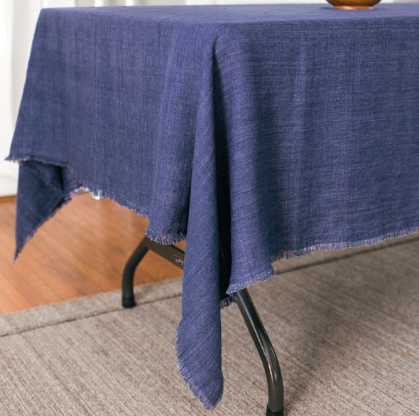 Navy Linen Table Cloth