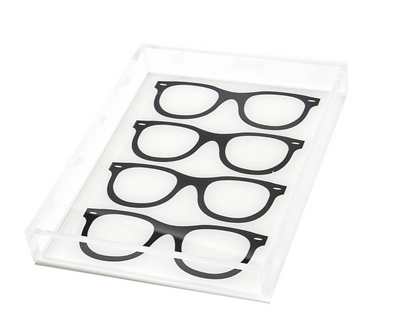 Lucite Glasses Icon Tray (Black)