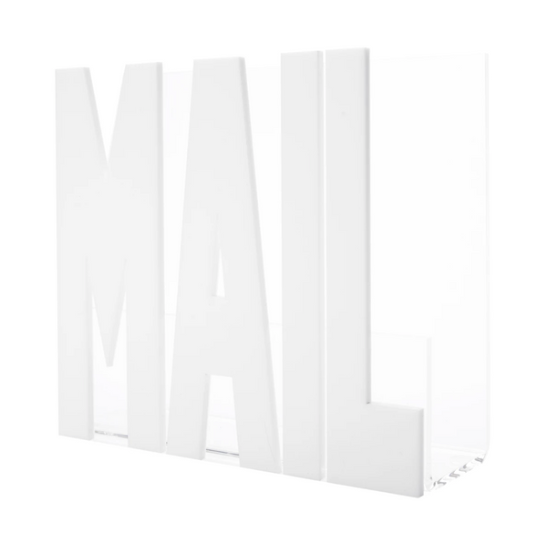 Lucite Mail Holder