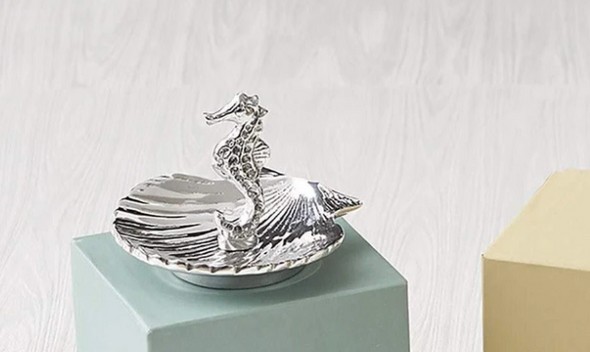Seahorse and Scallop Ring Dish