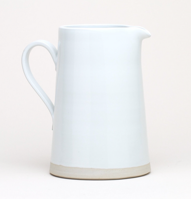 Thrown Large Pitcher in White