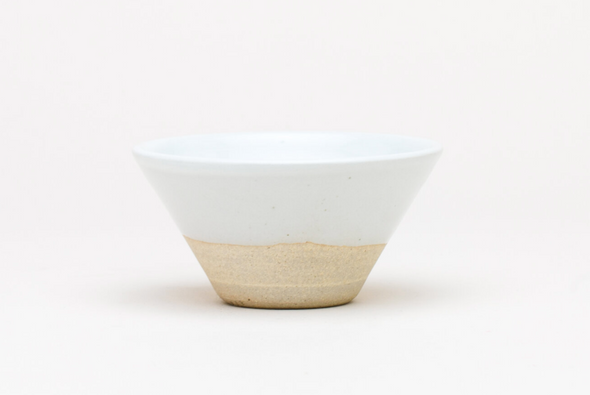 Thrown Small V Bowl in White