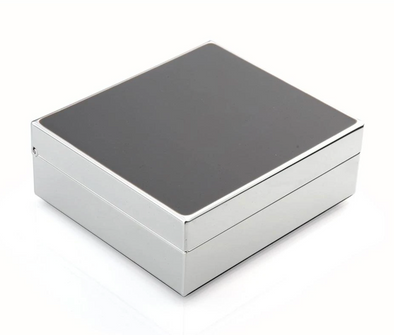 "Taupe & Silver 4"" Box"