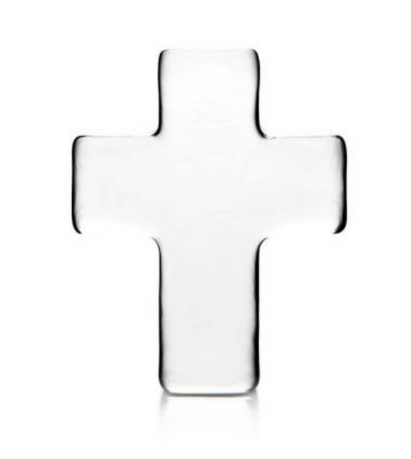 Simon Pearce Glass Cross in Gift box