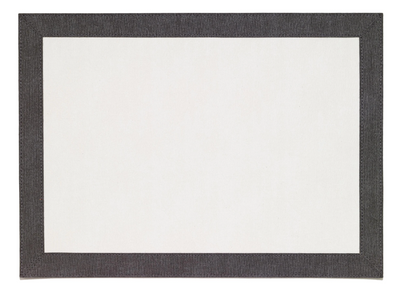 Bordino Charcoal Rectangle Placemat