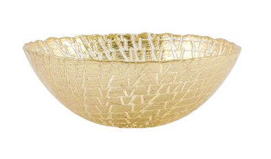 Rufolo Glass Gold Crocodile Small Bowl
