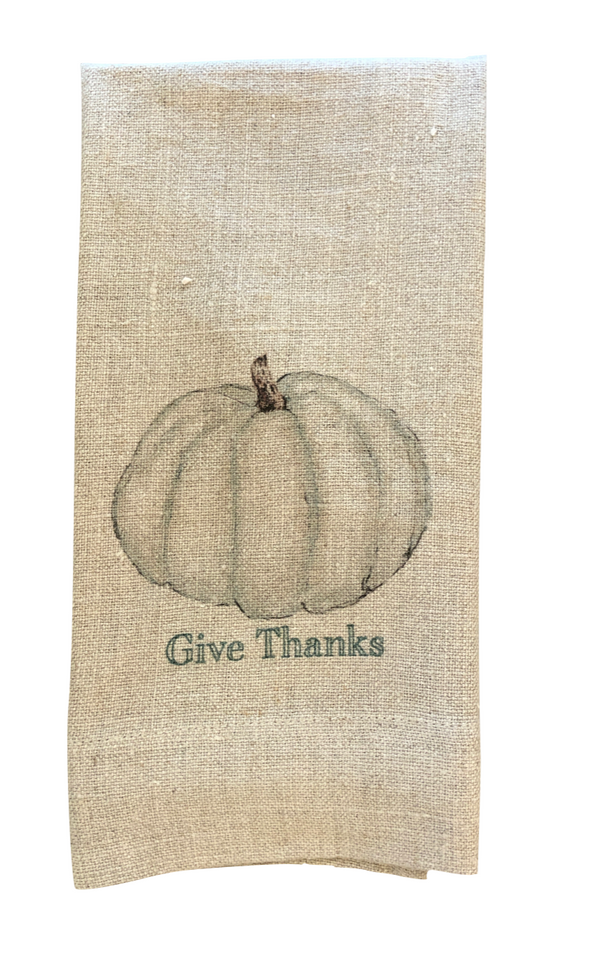 White Pumpkin Guest Towel