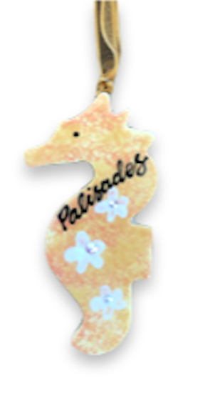 Palisades Sea Horse Ceramic Ornament