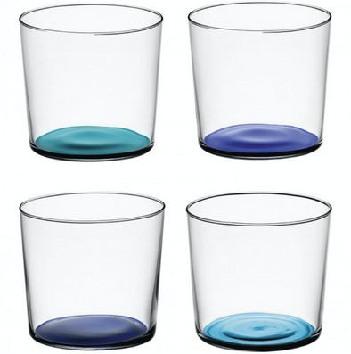 Coro Tumbler short Glass Assorted set/4