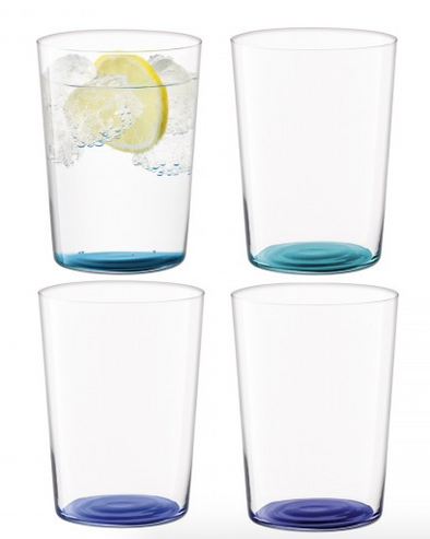 Coro Tumbler Large Glass (Assorted Set of 4)
