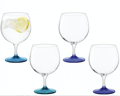 Coro Balloon Glass Lagoon (Assorted Set of 4)