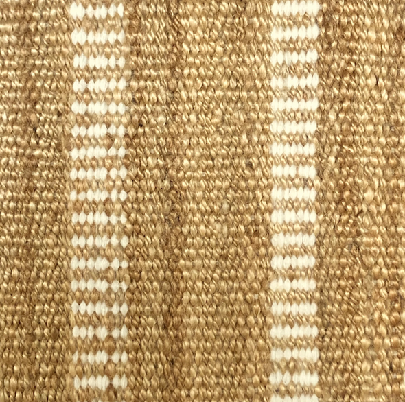 "Rug - Jute Wool Stripe (12"" x 12"")"