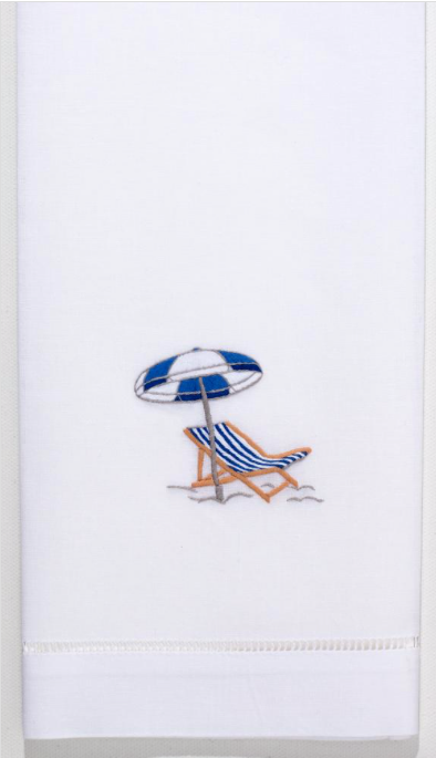 Embroidered Hand Towel • Beach Chair