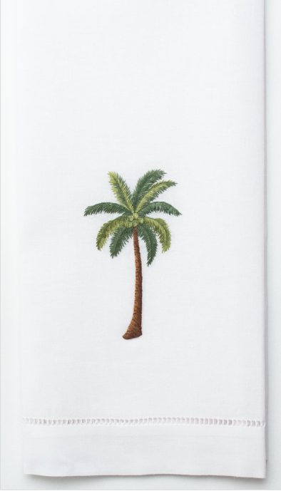 Embroidered Hand Towel • Palm Tree