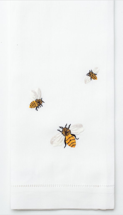 Embroidered Hand Towel • Bees