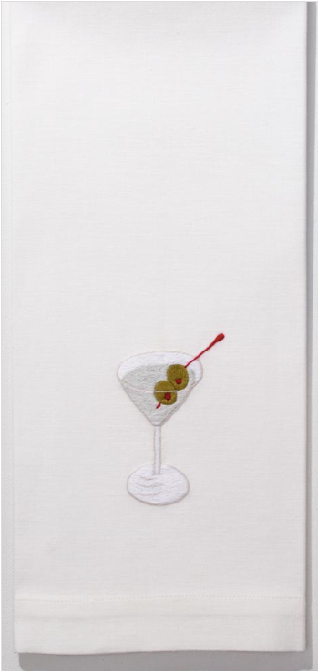 Embroidered Hand Towel • Martini