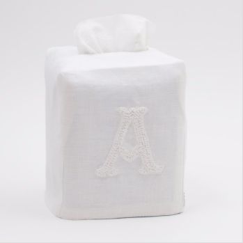 Tissue Cover • Embroidered • Nouveau Monogram