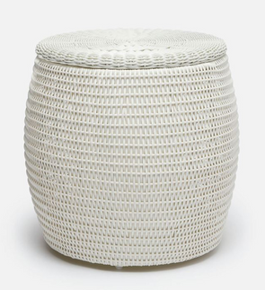 Woven Storage Side Table (Indoor/Outdoor)