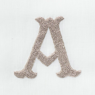 Embroidered Hand Towel • Nouveau Monogram