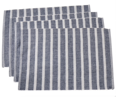 Placemat • Navy Blue Striped
