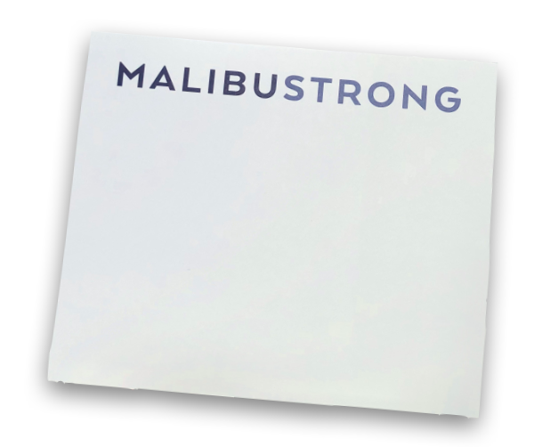 """Malibu Strong Notepad"""