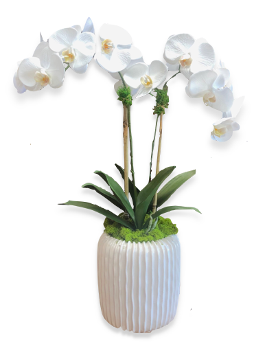 Custom Faux Orchid Arrangement