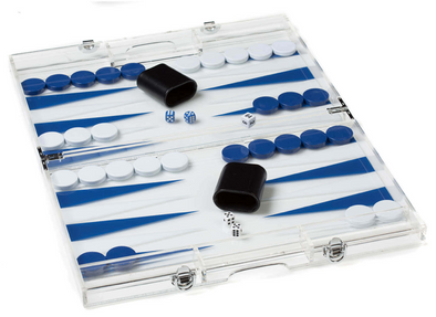 Acrylic Blue Backgammon
