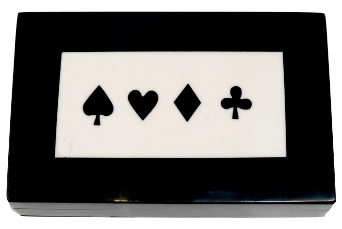 """Bone Card Box (Black)"""