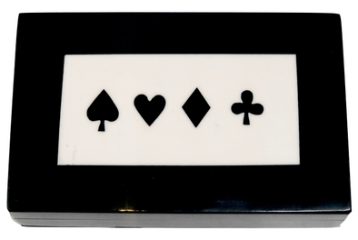 Bone Double Card Box (Black)