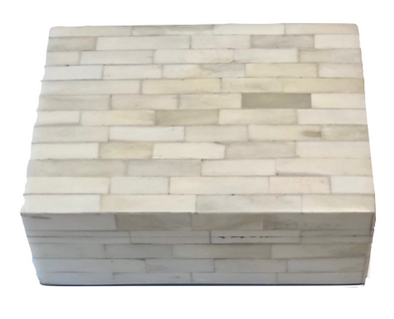 Bone Rectangular Box
