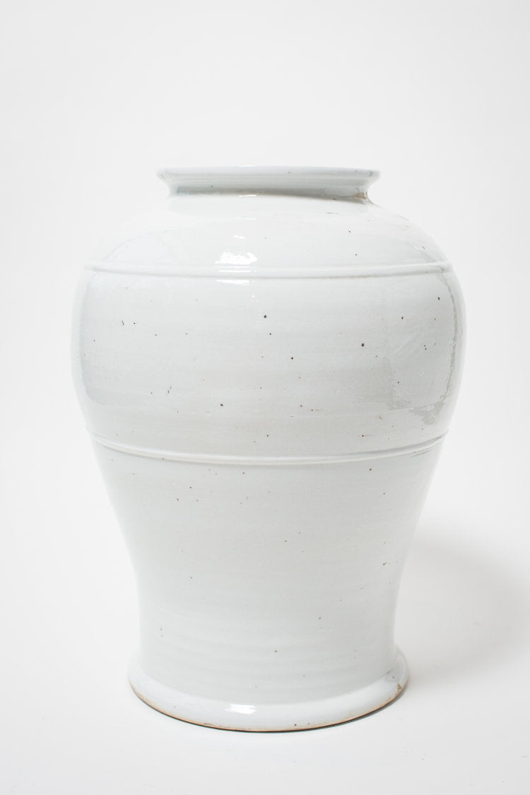 Open Mouth Kimchi Jar in White