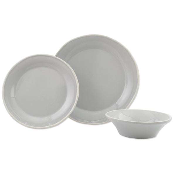 Vietri Chroma • Light Grey Three-Piece Place Setting