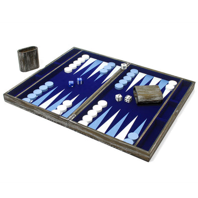 blue and white backgammon