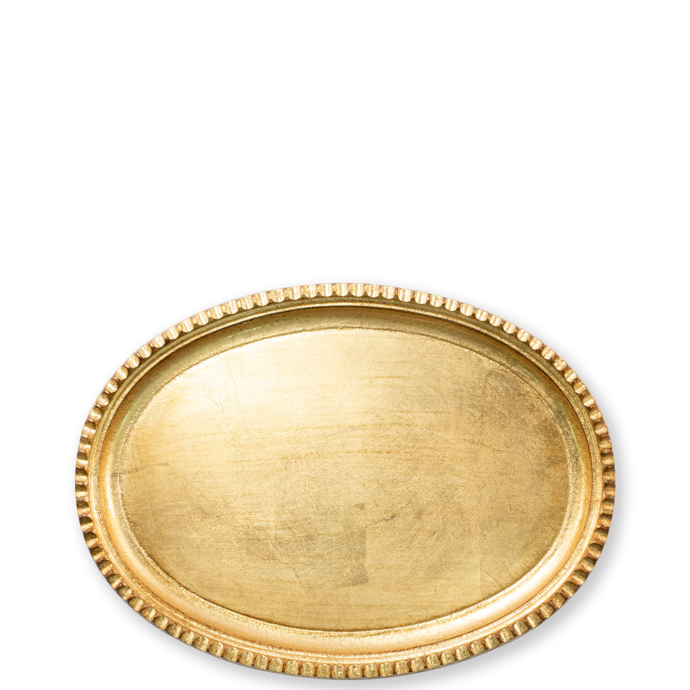 Vietri Florentine Gold Small Oval Tray