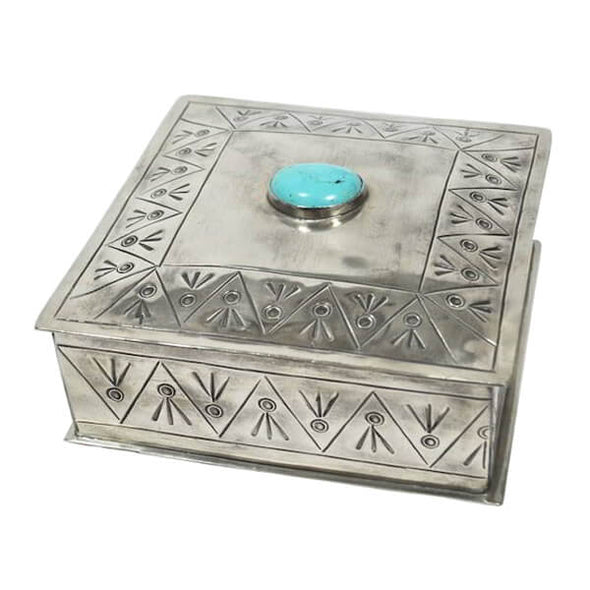 Silver & Turquoise Jewelry Box