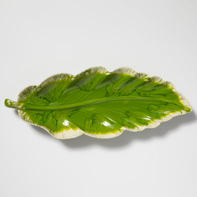 Vietri Reactive Leaves • Long Platter