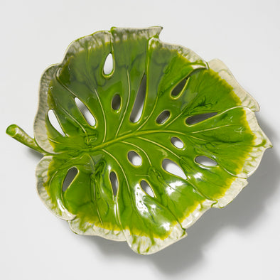 Vietri Reactive Leaves • Centerpiece Bowl